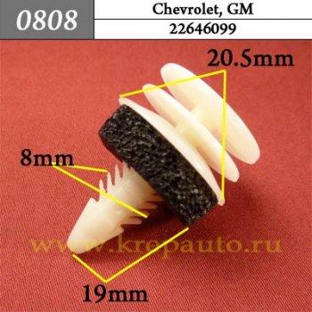 22646099 - Автокрепеж для Chevrolet, GM