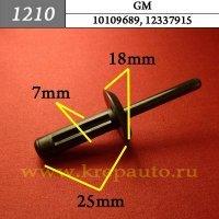10109689, 12337915 - Автокрепеж для GM