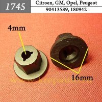 90413589, 180942 - Автокрепеж для Citroen, GM, Opel, Peugeot