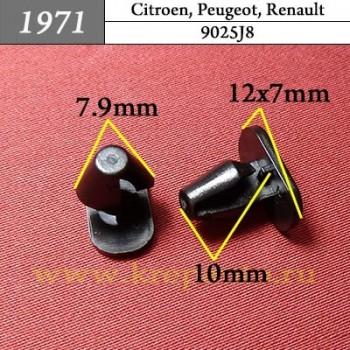 9025J8 - Автокрепеж для Citroen, Peugeot, Renault