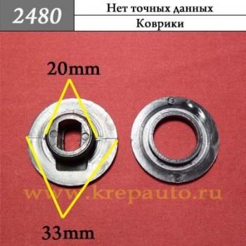 2480  - Автокрепеж для ковриков