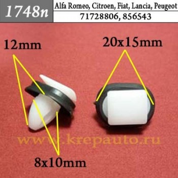 71728806, 856543 - Эконом Автокрепеж для Alfa Romeo, Citroen, Fiat, Lancia, Peugeot