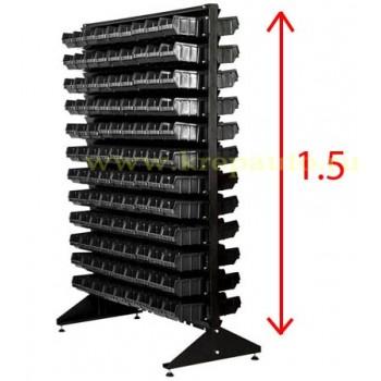 Стойка черная двусторонняя 1.5м с ящиками