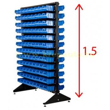 Стойка двустороннняя 1.5 м синяя с ящиками