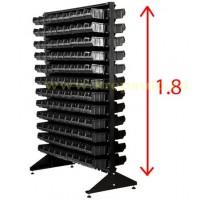 Стойка 1,8м. с лотками двусторонняя черная