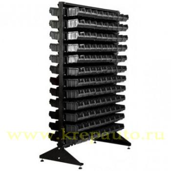 StoykaDvustBlue - Стойка 1,8м. с лотками двусторонняя черная
