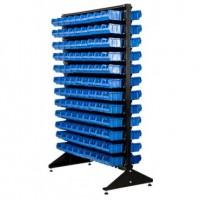 StoykaDvustBlue - Стойка 1,8м. с лотками двусторонняя синяя